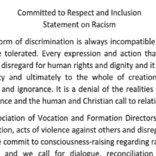 Committed to Respect and Inclusion Statement on Racism